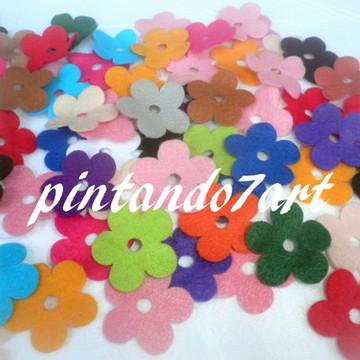 Flor de feltro nº 06 - pacote 100 peças