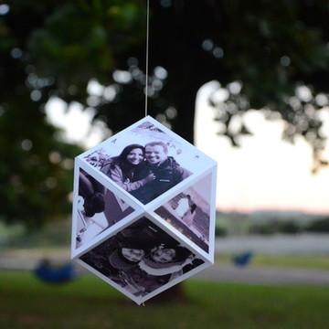 Mobile de papel personalizado com fotos