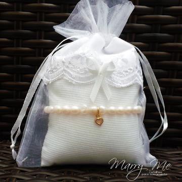 Presente Madrinha - Pulseira de Pérola Cultivada