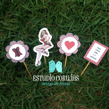 Toppers para doces Pin Up