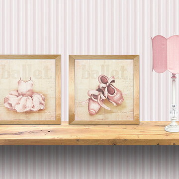 duo gravuras ballet meninas- quadro bale