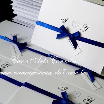 Convite Coração azul