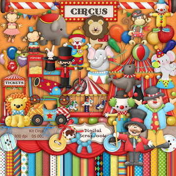 Kit Scrapbook Digital - Mega circo