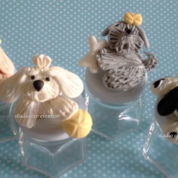 Potinhos CACHORRINHOS - lembrancinhas e decoração pet