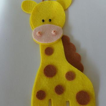 Recortes girafa em feltro