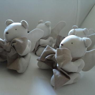 Ursinho anjinho - Decoração Batizado