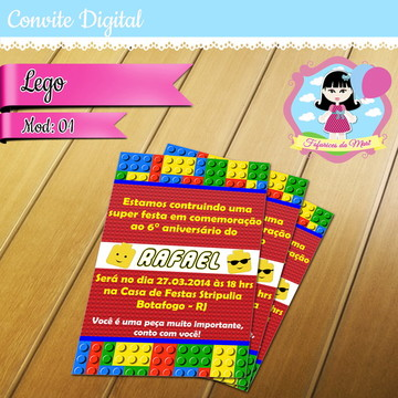 Convite Digital - Lego