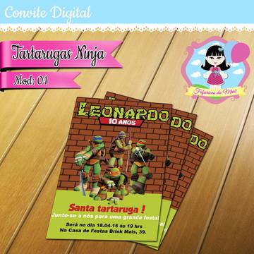 Convite Digital - Tartarugas Ninja