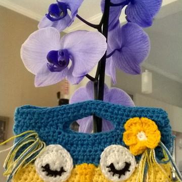 Bolsinha Carteira corujinha Crochet