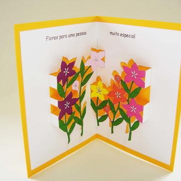 Cartão Flores -10914b