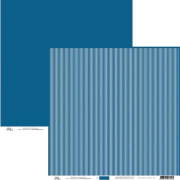 Papel Listas Finas - Azul Náutico/Branco
