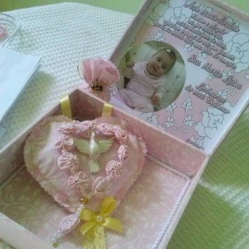 Caixa convite para batizado Maria Luisa