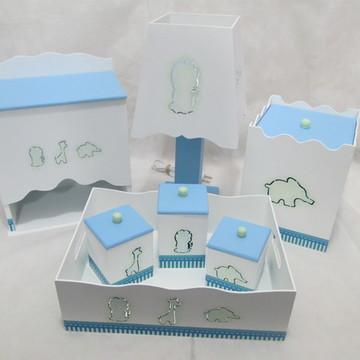 Kit de Higiene Bebê MDF