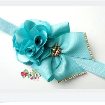 Headband Infantil Flor e Laço