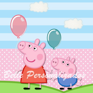 Arte Tag Digital Peppa Pig