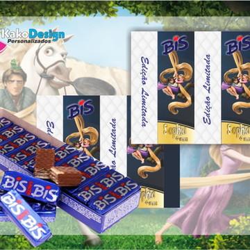 Rótulo para chocolate Princesa Enrolados