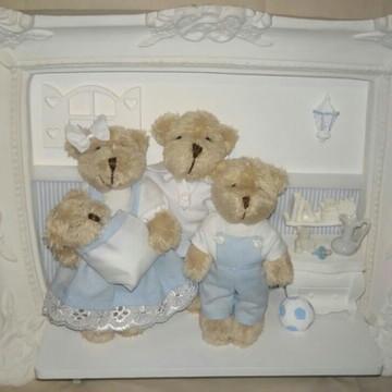 Quadro Maternidade Família Urso
