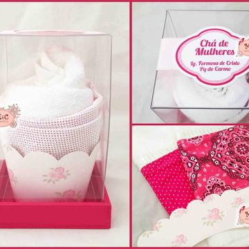 Cupcake de Toalha Pink