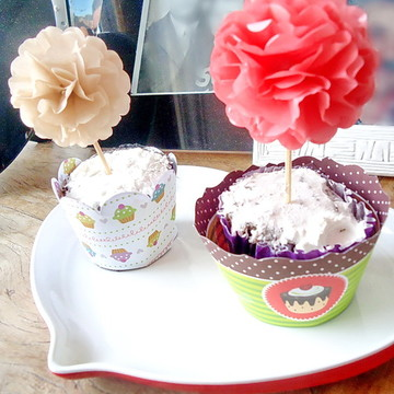 Kit TOPPERS Pompom Seda FLOWERS
