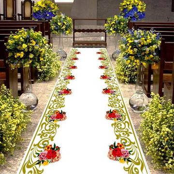 Tapete entrada dos noivos - Floral