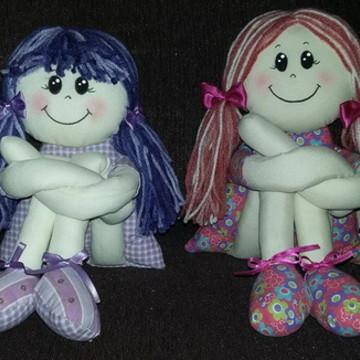 Boneca Pernuda tecido