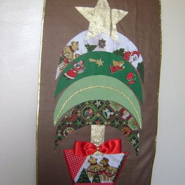 Painel em Patchwork - Natal