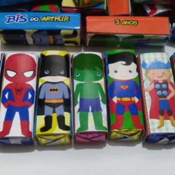 Rótulo Personalizado - Super Heróis