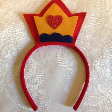 Tiara arco coroa Branca de Neve