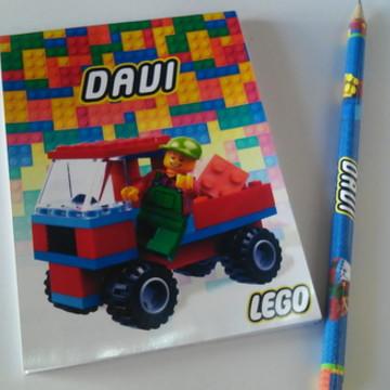 Kit Bloquinho + Lápis LEGO