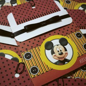 Convite de Aniversário Mickey