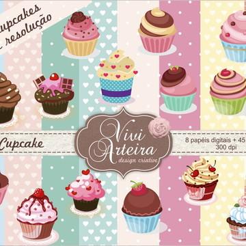 Kit Scrapbook Digital Cupcake