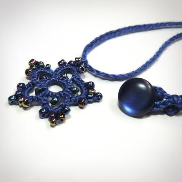 Colar Astral - Cor Azul Safira