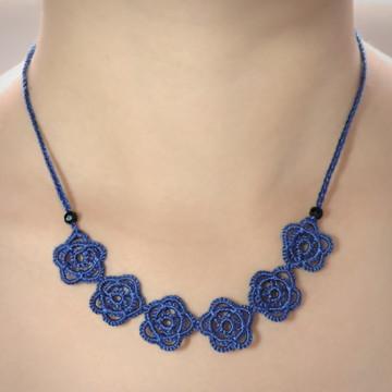 Colar Rosales - Cor Azul Safira