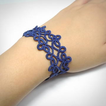 Pulseira Arabesco - Cor Azul Safira
