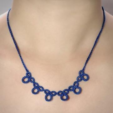 Colar Primícia - Cor Azul Safira