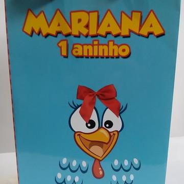Sacolinha Galinha Pintadinha - pequena