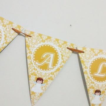 Bandeirolas Batizado - Anjinho Dourado