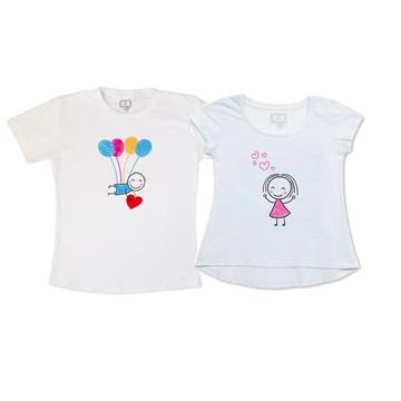 Camisetas dia dos Namorados Balões