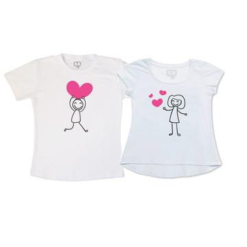 Camisetas dia dos Namorados Corações