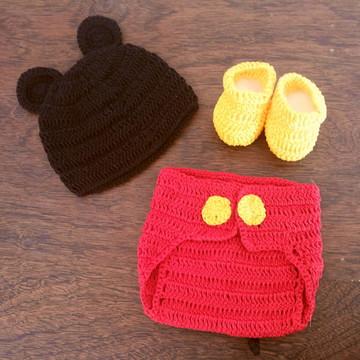 Roupa do mikey de croché newborn