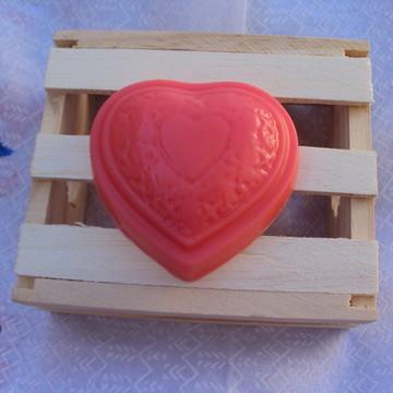 Sabonete Artesanal Coração Arabesco