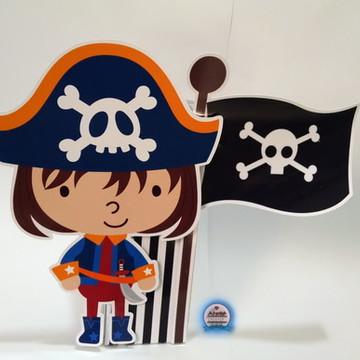 6 Enfeites de Mesa Piratas com Suporte
