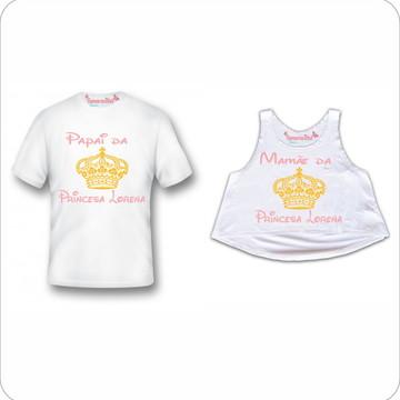 Kit Chá de bebê Mãe ,Pai de uma princesa