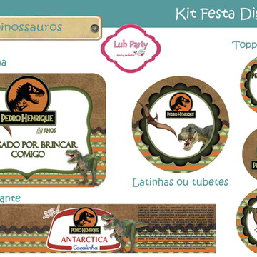 Kit Festa Digital Dino