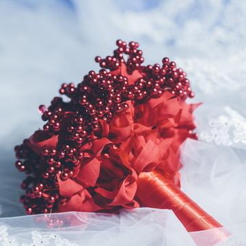 Buquê de pérolas vermelhas Amor Perfeito