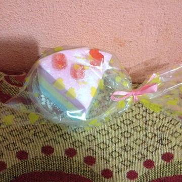 Sabonete Fatia de Bolo Algodão-doce