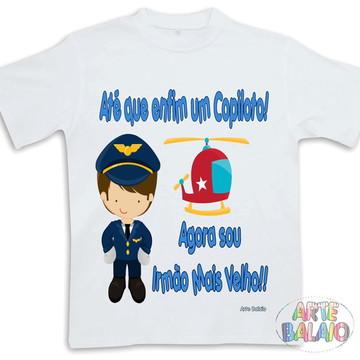 Camiseta Irmão Mais Velho Piloto