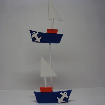 Barco enfeite centro mesa lembrancinha