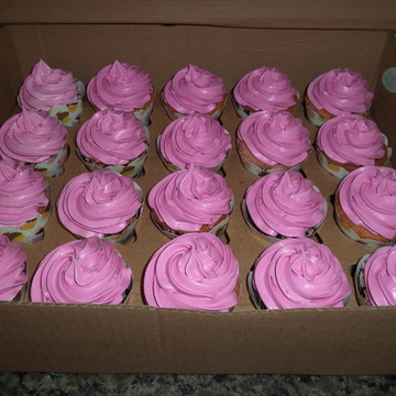 Cupcakes - Cobertura Alta Cor Rosa Pink