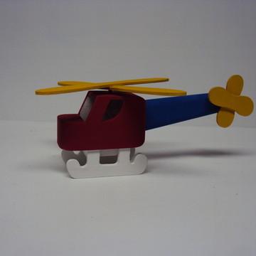Lembrancinha aniversario helicóptero mdf